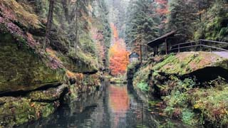 Edmund Gorge and Kamenice River, Bohemian Switzerland national park, Czech Republic