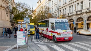 City bus tour, Prague, Czech Republic
