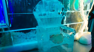 Frozen Throne in Ice Pub, Prague, Czech Republic