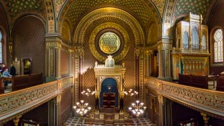Interior of the Spanish Synagogue, Prague, Czech Republic