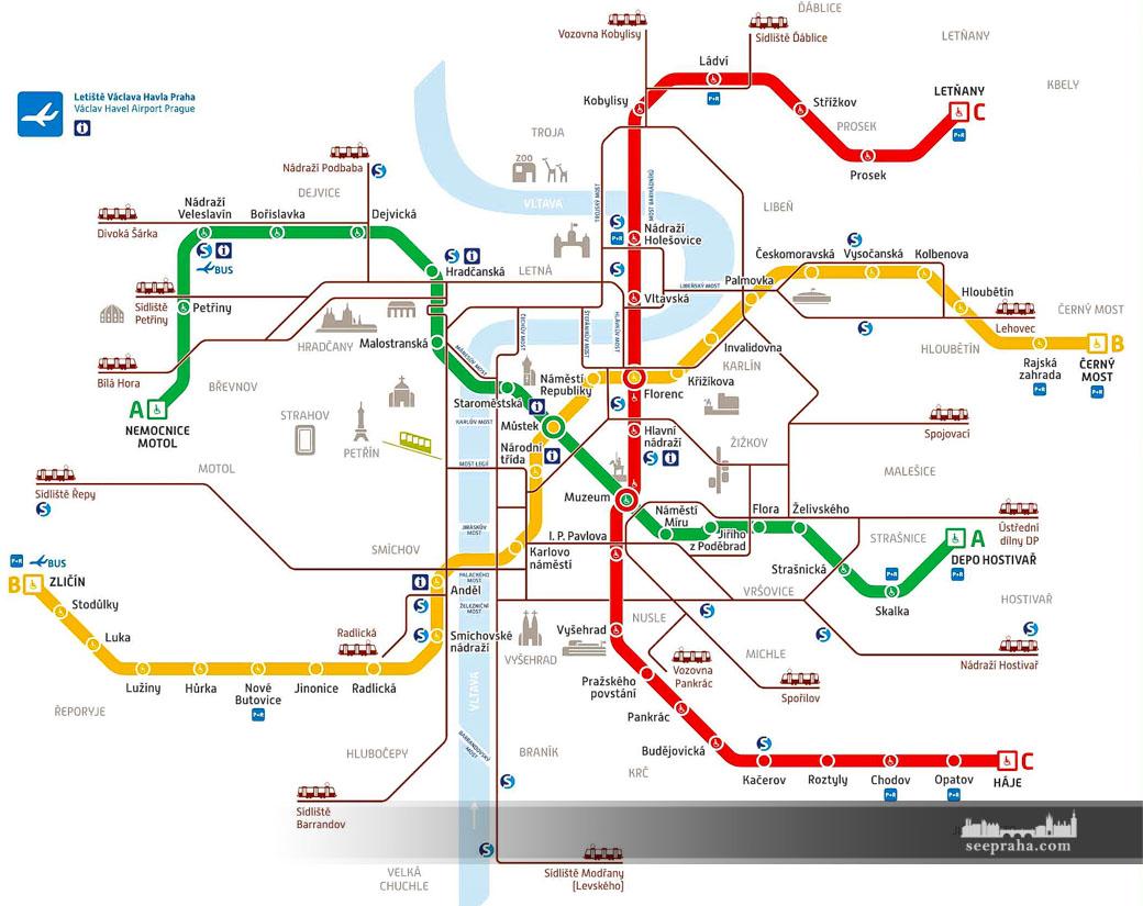Prag Karte Offentliche Verkehrsmittel.Nutzliche Infos Fur Ihre Pragreise