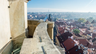View from the bell tower of St. Nicholas Church, Prague, Czech Republic